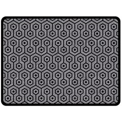 Hexagon1 Black Marble & Gray Colored Pencil (r) Double Sided Fleece Blanket (large)  by trendistuff
