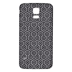 Hexagon1 Black Marble & Gray Colored Pencil (r) Samsung Galaxy S5 Back Case (white) by trendistuff