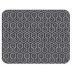 Hexagon1 Black Marble & Gray Colored Pencil (r) Double Sided Flano Blanket (medium)  by trendistuff