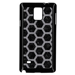 Hexagon2 Black Marble & Gray Colored Pencil Samsung Galaxy Note 4 Case (black) by trendistuff