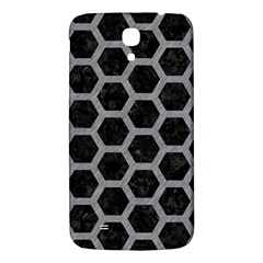 Hexagon2 Black Marble & Gray Colored Pencil Samsung Galaxy Mega I9200 Hardshell Back Case by trendistuff