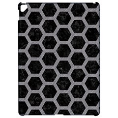 Hexagon2 Black Marble & Gray Colored Pencil Apple Ipad Pro 12 9   Hardshell Case