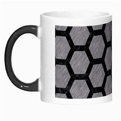 Hexagon2 Black Marble & Gray Colored Pencil (r) Morph Mugs by trendistuff