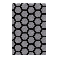 Hexagon2 Black Marble & Gray Colored Pencil (r) Shower Curtain 48  X 72  (small)  by trendistuff