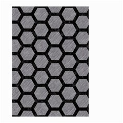 Hexagon2 Black Marble & Gray Colored Pencil (r) Small Garden Flag (two Sides) by trendistuff