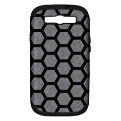 Hexagon2 Black Marble & Gray Colored Pencil (r) Samsung Galaxy S Iii Hardshell Case (pc+silicone) by trendistuff
