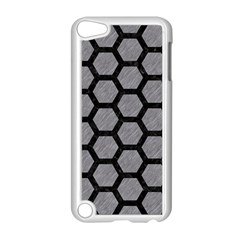 Hexagon2 Black Marble & Gray Colored Pencil (r) Apple Ipod Touch 5 Case (white) by trendistuff