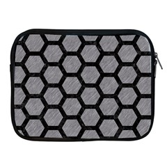 Hexagon2 Black Marble & Gray Colored Pencil (r) Apple Ipad 2/3/4 Zipper Cases by trendistuff