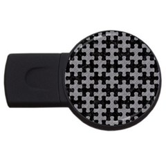Puzzle1 Black Marble & Gray Colored Pencil Usb Flash Drive Round (2 Gb) by trendistuff