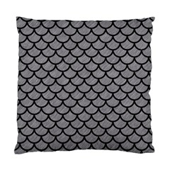 Scales1 Black Marble & Gray Colored Pencil (r) Standard Cushion Case (two Sides) by trendistuff