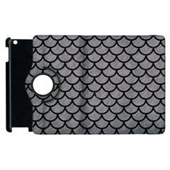 Scales1 Black Marble & Gray Colored Pencil (r) Apple Ipad 2 Flip 360 Case by trendistuff