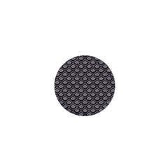 Scales2 Black Marble & Gray Colored Pencil (r) 1  Mini Buttons by trendistuff