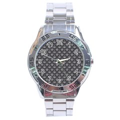 Scales2 Black Marble & Gray Colored Pencil (r) Stainless Steel Analogue Watch by trendistuff