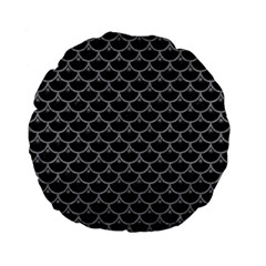 Scales3 Black Marble & Gray Colored Pencil Standard 15  Premium Flano Round Cushions by trendistuff