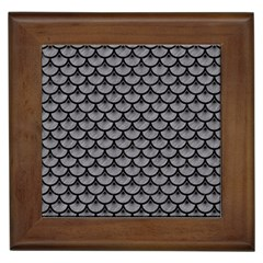 Scales3 Black Marble & Gray Colored Pencil (r) Framed Tiles by trendistuff