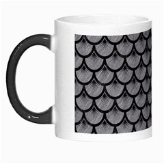 Scales3 Black Marble & Gray Colored Pencil (r) Morph Mugs by trendistuff