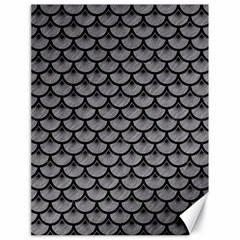 Scales3 Black Marble & Gray Colored Pencil (r) Canvas 18  X 24   by trendistuff