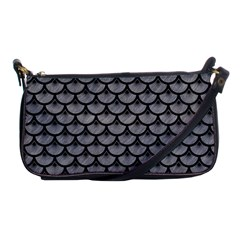 Scales3 Black Marble & Gray Colored Pencil (r) Shoulder Clutch Bags by trendistuff