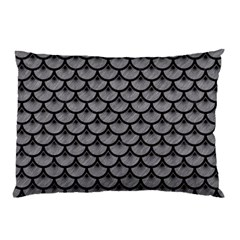 Scales3 Black Marble & Gray Colored Pencil (r) Pillow Case (two Sides) by trendistuff