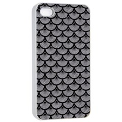 Scales3 Black Marble & Gray Colored Pencil (r) Apple Iphone 4/4s Seamless Case (white) by trendistuff