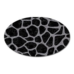 Skin1 Black Marble & Gray Colored Pencil (r) Oval Magnet by trendistuff