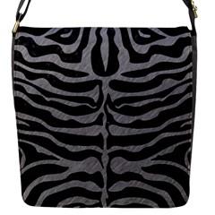 Skin2 Black Marble & Gray Colored Pencil Flap Messenger Bag (s) by trendistuff