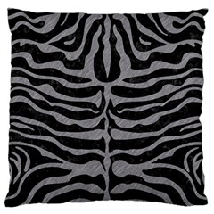Skin2 Black Marble & Gray Colored Pencil Large Flano Cushion Case (two Sides) by trendistuff