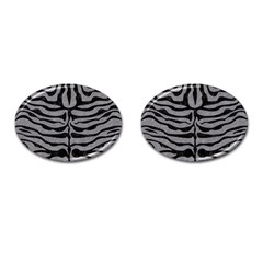 Skin2 Black Marble & Gray Colored Pencil (r) Cufflinks (oval) by trendistuff