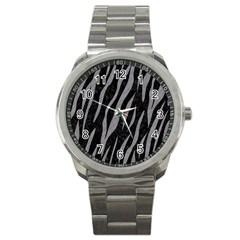 Skin3 Black Marble & Gray Colored Pencil Sport Metal Watch by trendistuff