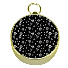 Xmas Pattern Gold Compasses by Valentinaart
