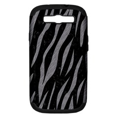 Skin3 Black Marble & Gray Colored Pencil Samsung Galaxy S Iii Hardshell Case (pc+silicone) by trendistuff