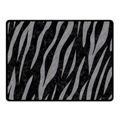 Skin3 Black Marble & Gray Colored Pencil Double Sided Fleece Blanket (small)  by trendistuff