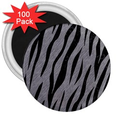 Skin3 Black Marble & Gray Colored Pencil (r) 3  Magnets (100 Pack) by trendistuff