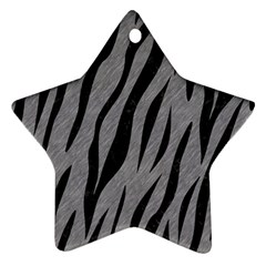 Skin3 Black Marble & Gray Colored Pencil (r) Star Ornament (two Sides) by trendistuff