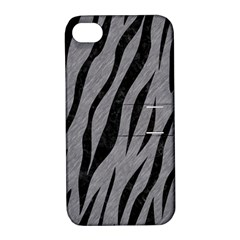 Skin3 Black Marble & Gray Colored Pencil (r) Apple Iphone 4/4s Hardshell Case With Stand by trendistuff