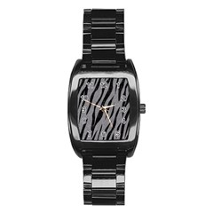 Skin3 Black Marble & Gray Colored Pencil (r) Stainless Steel Barrel Watch by trendistuff