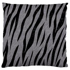 Skin3 Black Marble & Gray Colored Pencil (r) Standard Flano Cushion Case (one Side) by trendistuff