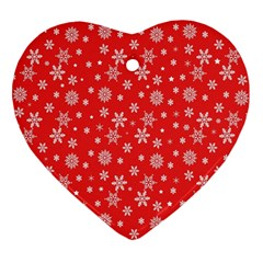 Xmas Pattern Heart Ornament (two Sides) by Valentinaart