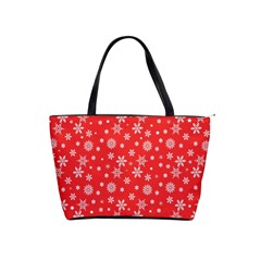 Xmas Pattern Shoulder Handbags by Valentinaart