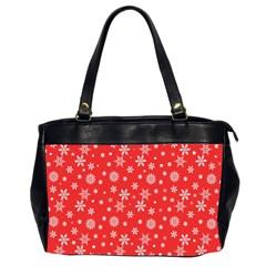 Xmas Pattern Office Handbags (2 Sides)  by Valentinaart