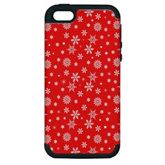 Xmas Pattern Apple Iphone 5 Hardshell Case (pc+silicone) by Valentinaart