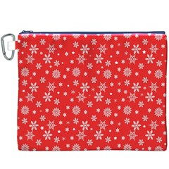 Xmas Pattern Canvas Cosmetic Bag (xxxl) by Valentinaart