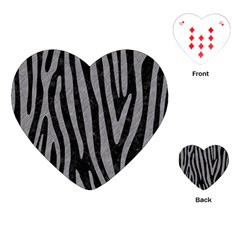 Skin4 Black Marble & Gray Colored Pencil (r) Playing Cards (heart)  by trendistuff
