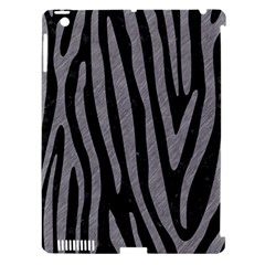 Skin4 Black Marble & Gray Colored Pencil (r) Apple Ipad 3/4 Hardshell Case (compatible With Smart Cover) by trendistuff