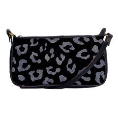 Skin5 Black Marble & Gray Colored Pencil (r) Shoulder Clutch Bags by trendistuff