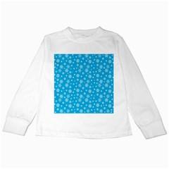 Xmas Pattern Kids Long Sleeve T Shirts by Valentinaart