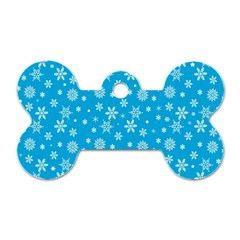 Xmas Pattern Dog Tag Bone (two Sides) by Valentinaart