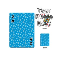 Xmas Pattern Playing Cards 54 (mini)  by Valentinaart