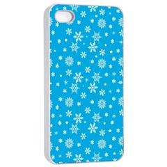 Xmas Pattern Apple Iphone 4/4s Seamless Case (white) by Valentinaart