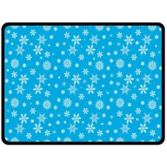 Xmas Pattern Double Sided Fleece Blanket (large)  by Valentinaart